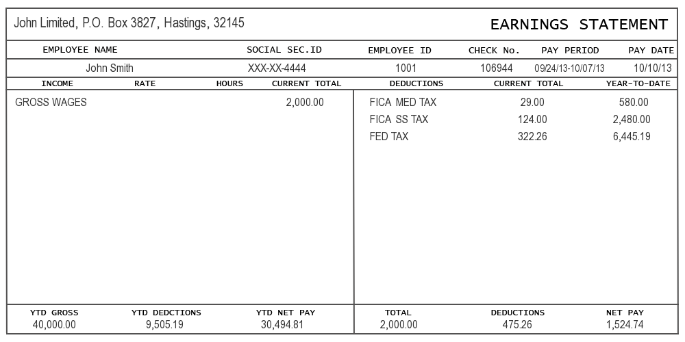 paycheck stub template in microsoft word
