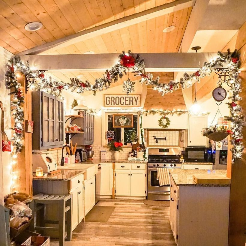 57 Best Christmas Kitchen Decorating Ideas That Will Make Your Kitchen look Christmas