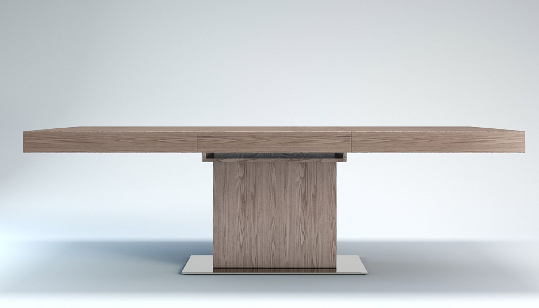 Ethan 8 10 Seat Extending Dining Table Oak And White Light Wood