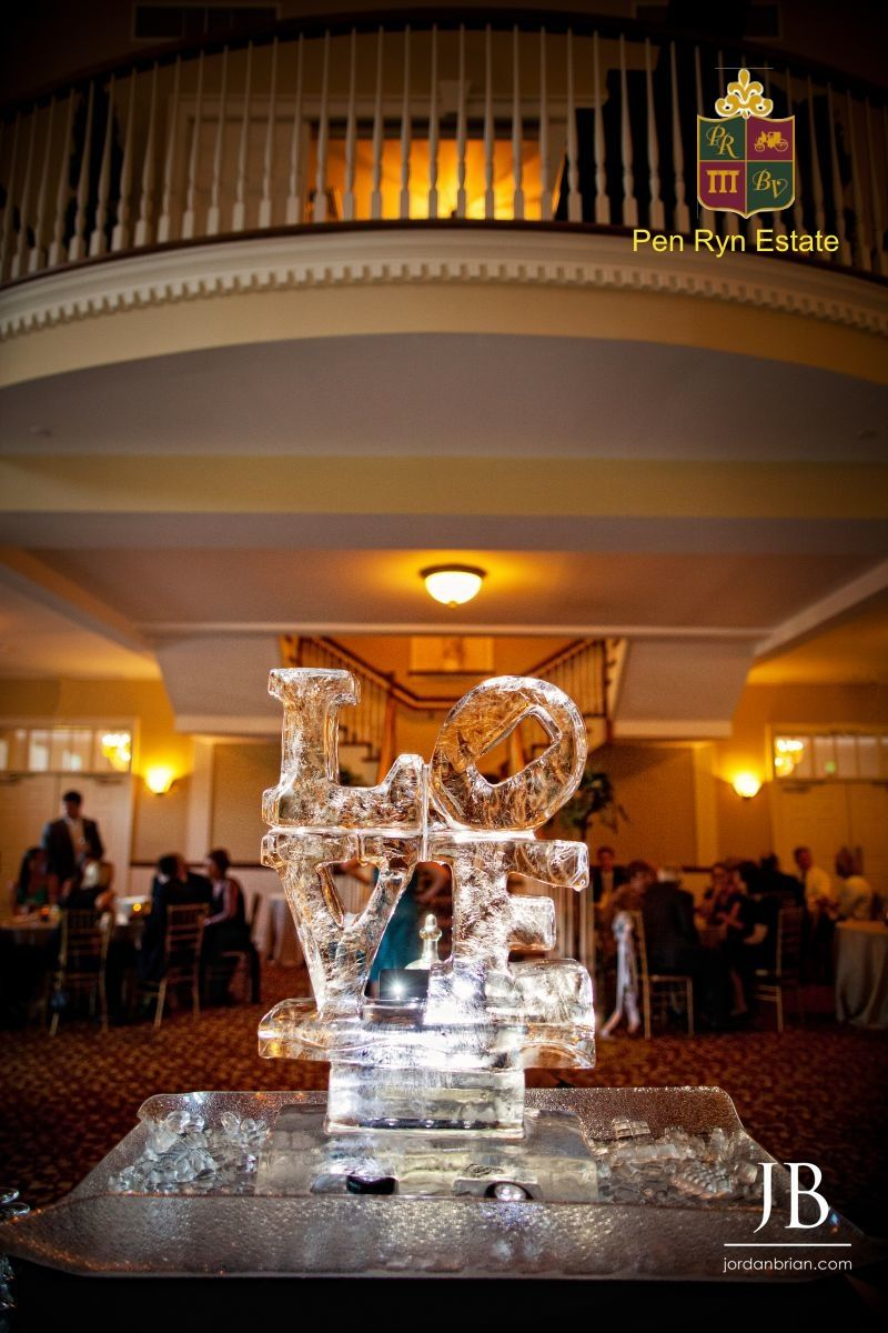 An Ice Sculpture At In The Carriage House Of Belle Voir Manor Located Bucks County