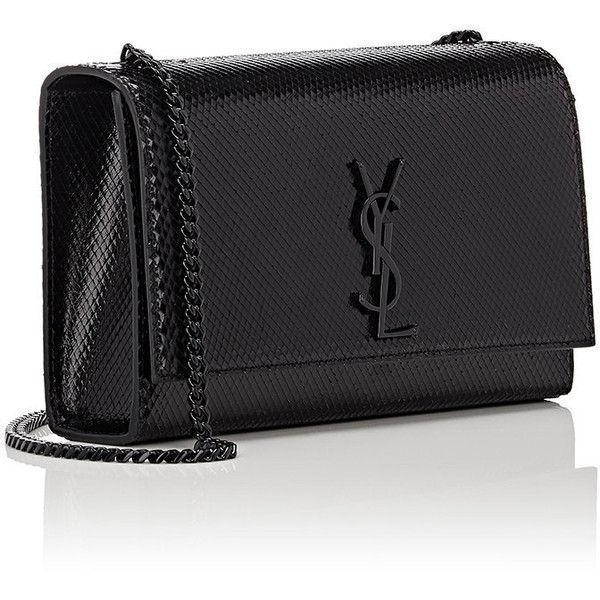 108cf46f0ee Saint Laurent Women's Monogram Kate Medium Chain Bag ($2,290) ❤ liked on  Polyvore featuring bags, handbags, chain purse, monogrammed bags, ...
