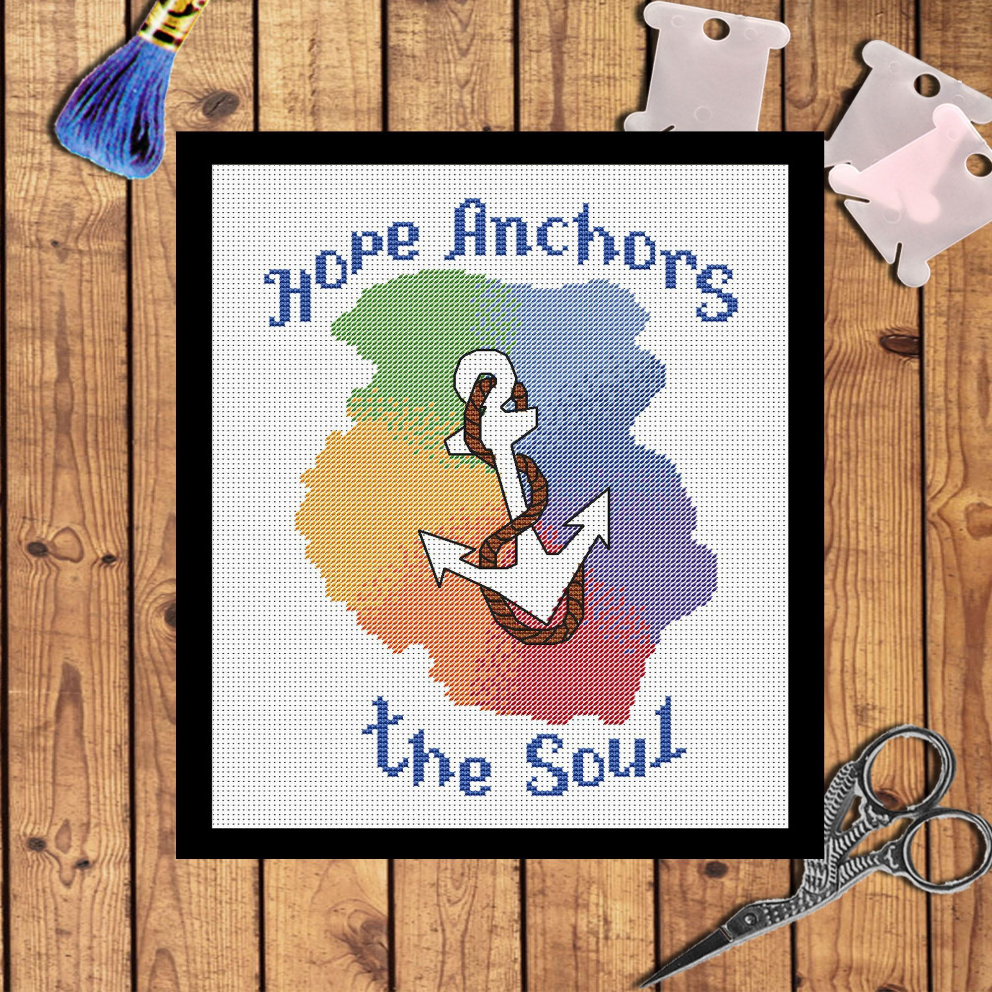 Anchor cross stitch pattern pdf nautical embroidery pattern sea anchor cross stitch pattern pdf nautical embroidery pattern sea life ocean sailing gift nautical gift decor bankloansurffo Gallery
