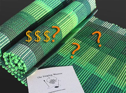 How Much? Pricing Handwovens | a weaving techq & loom | Weaving