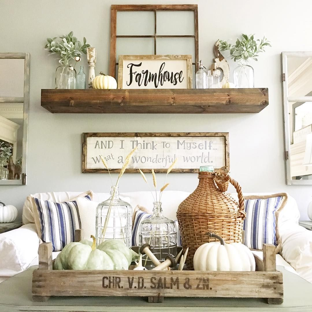 Love the idea of using a chunky shelf above the couch Over the sofa wall decor ideas