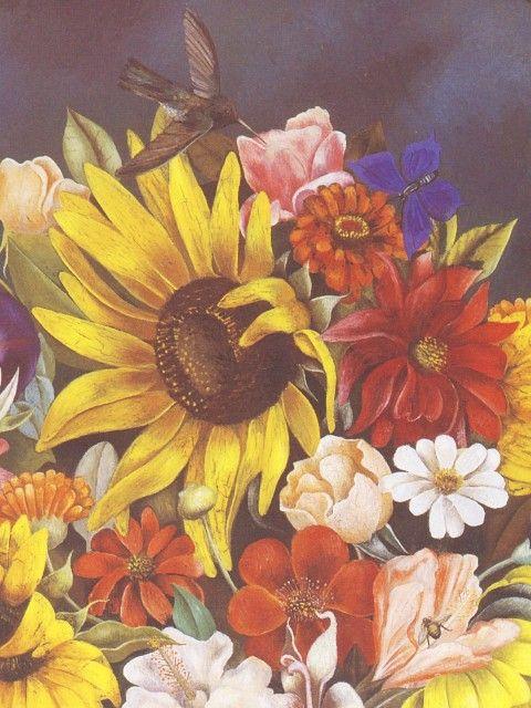 Frida Kahlo Flower Basket Detail