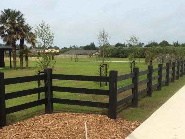 Post 3 Rail Fencing Blackwood Park Subdivision Beams Timber