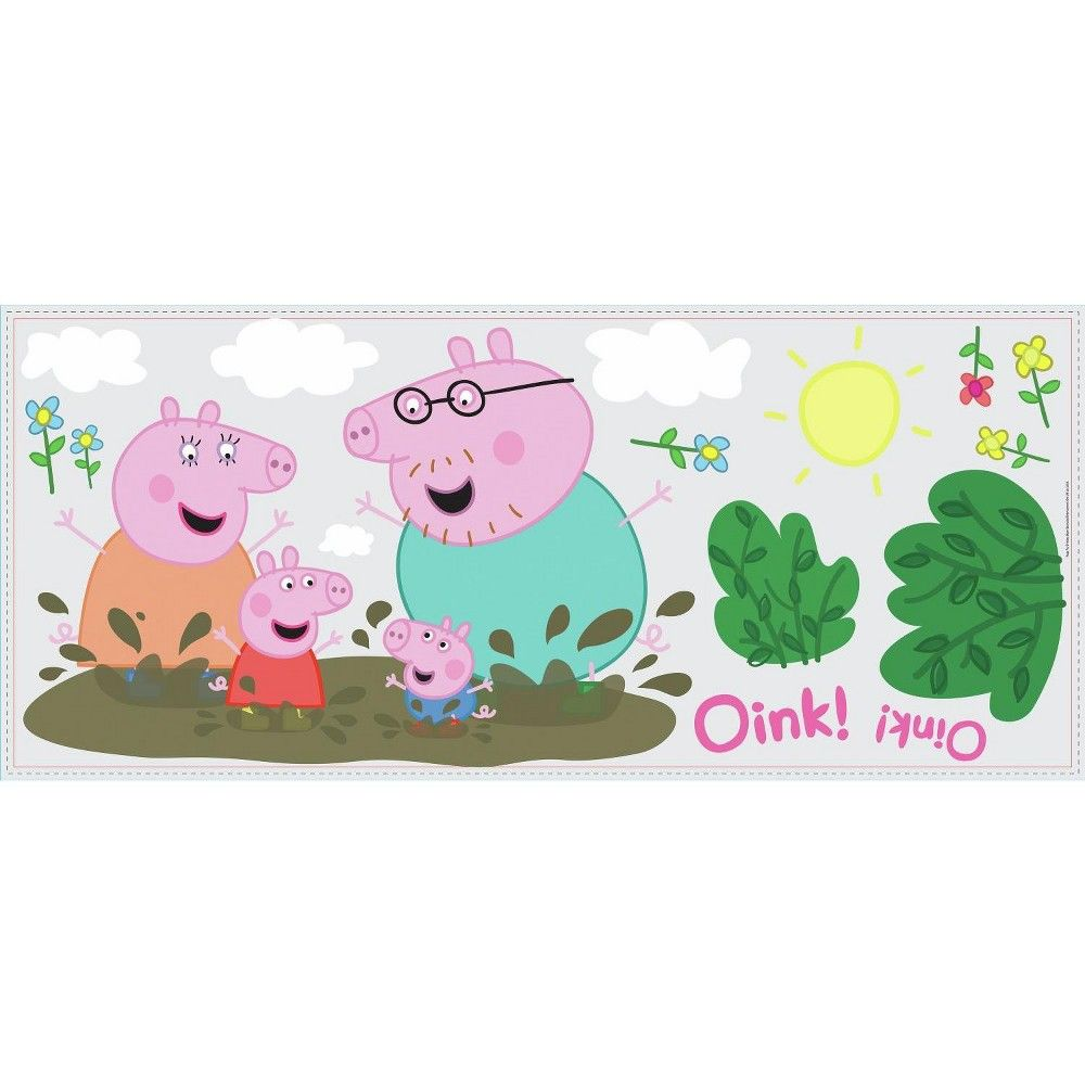 RoomMates Peppa The Pig Peppa andGeorge Playtime Peel And Stick Giant Wall Decals