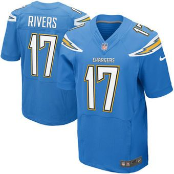 huge discount be3d2 b2ce3 Nike Philip Rivers Los Angeles Chargers Powder Blue Elite ...