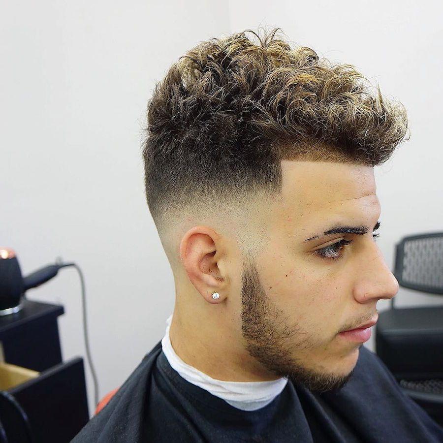 14++ High fade haircut curly hair ideas