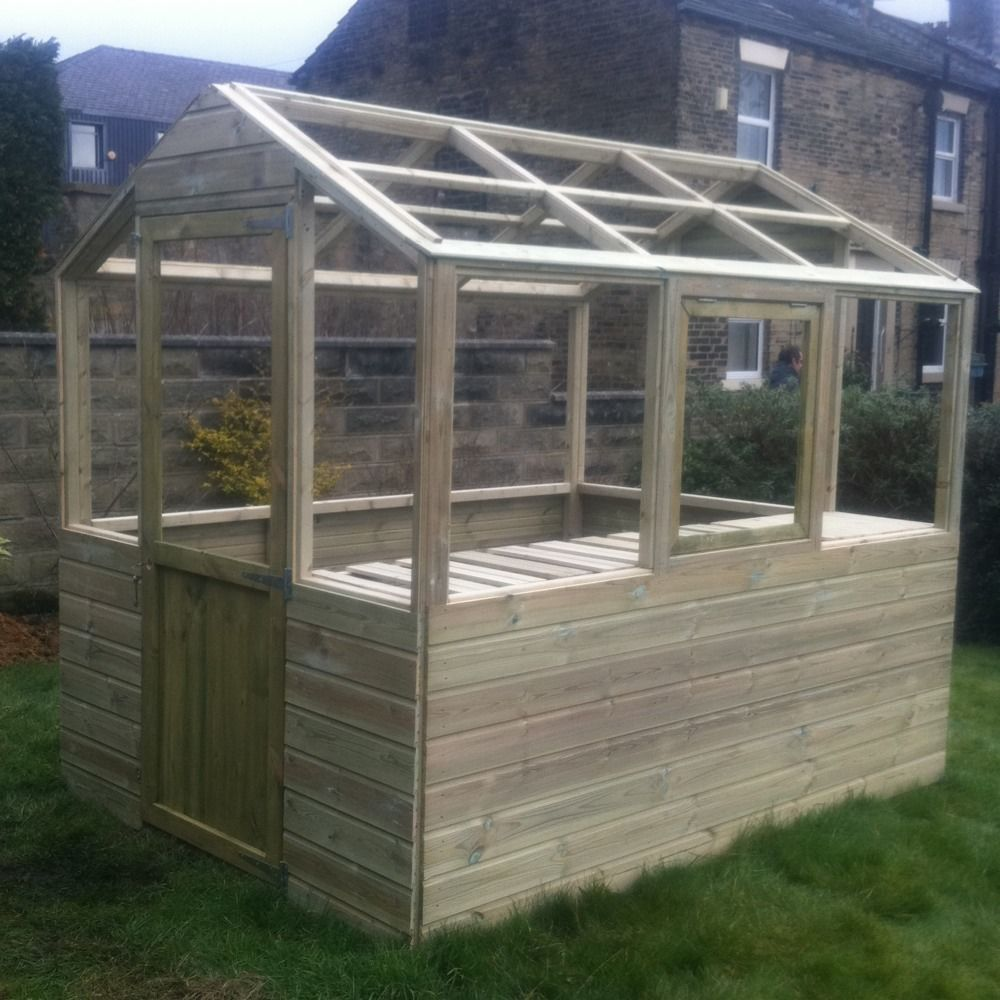 10x6 wooden greenhouse heavy duty tanalised FRAME ONLY