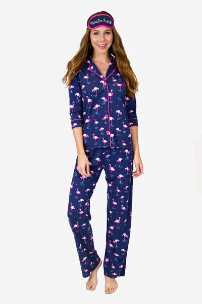 PJ Salvage Paradise Awaits Pajama Set   Eye Mask  5ffdc6400