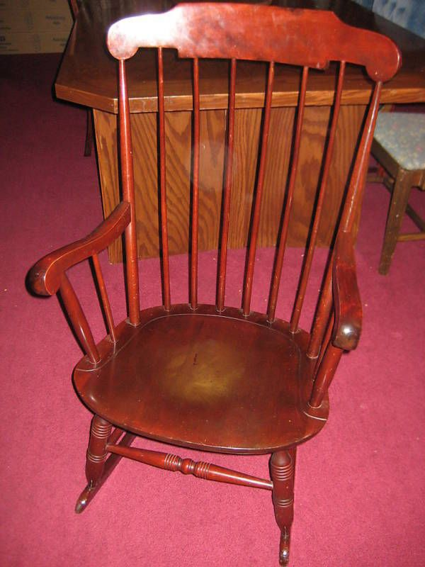 Miraculous Nichols Stone Co Solid Wood Rocking Chair Cherry Gmtry Best Dining Table And Chair Ideas Images Gmtryco