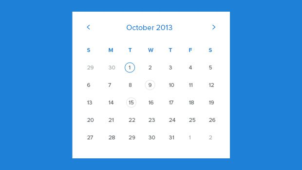 Free Calendar Template - Freebies Gallery UI calendar/clock/alarm