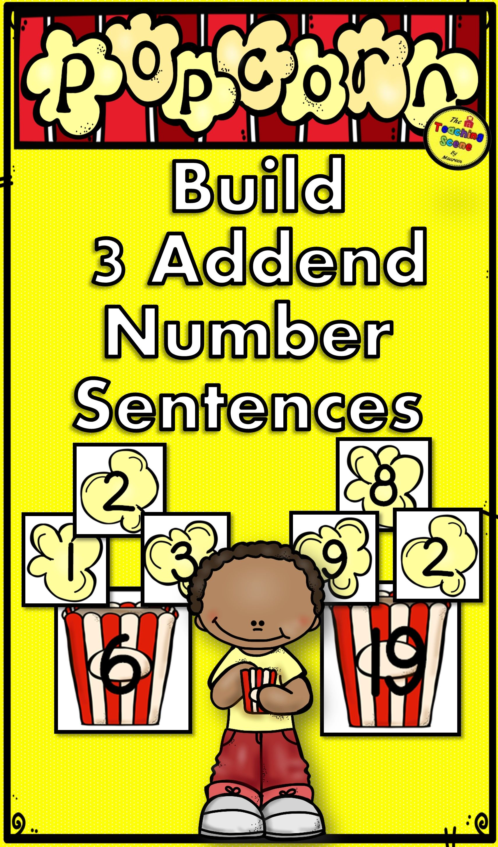 Popcorn Build 3 Addend Addition Amp Subtraction Sentences