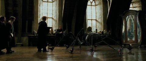 Boggart Classroom Defence Against The Dark Arts Harry Potter Illustrations Harry Potter Set Harry Potter Halloween