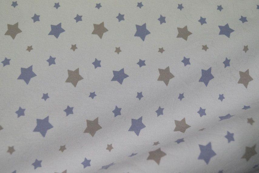Stenzo16 1660-09 Tricot sterren wit/lila/beige
