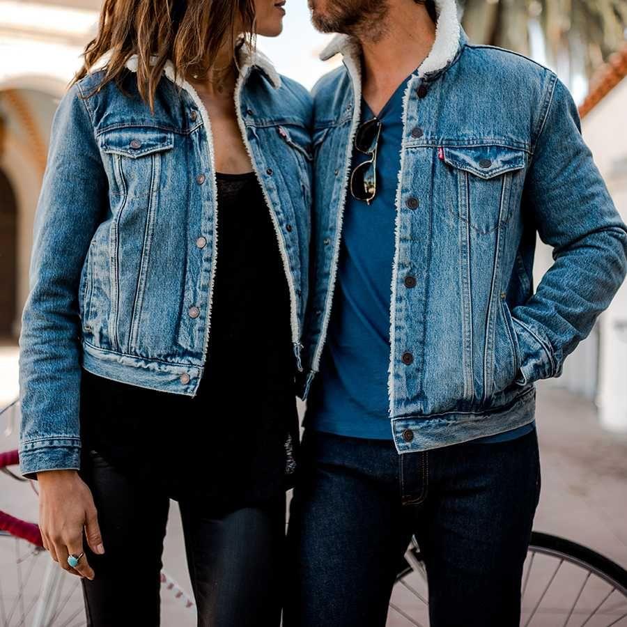 Oversized Fleece Fur Lined Denim Jacket With Fur Lined Denim Jacket Denim Jacket With Fur Denim Jacket [ 900 x 900 Pixel ]