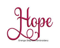 Image result for hope embroidery