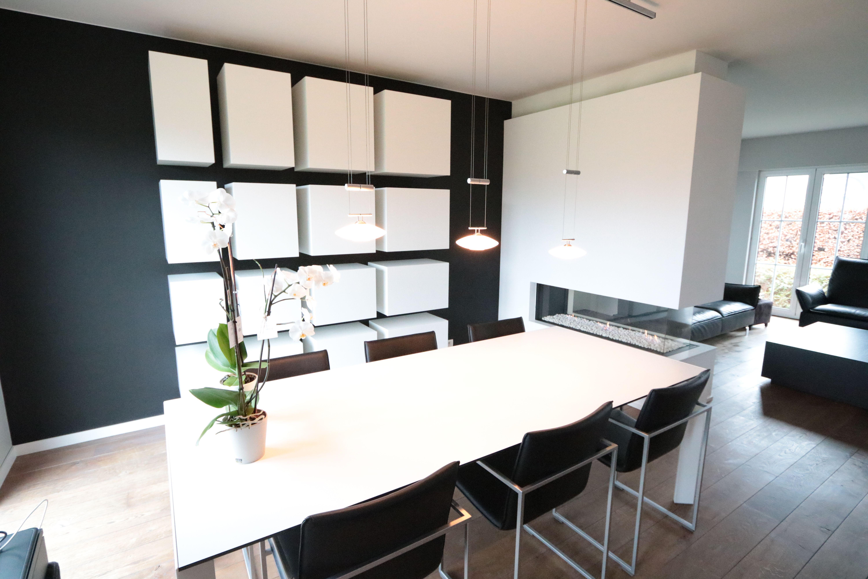 Living met zwevende kastjes - lak living - Claes Interieur ...