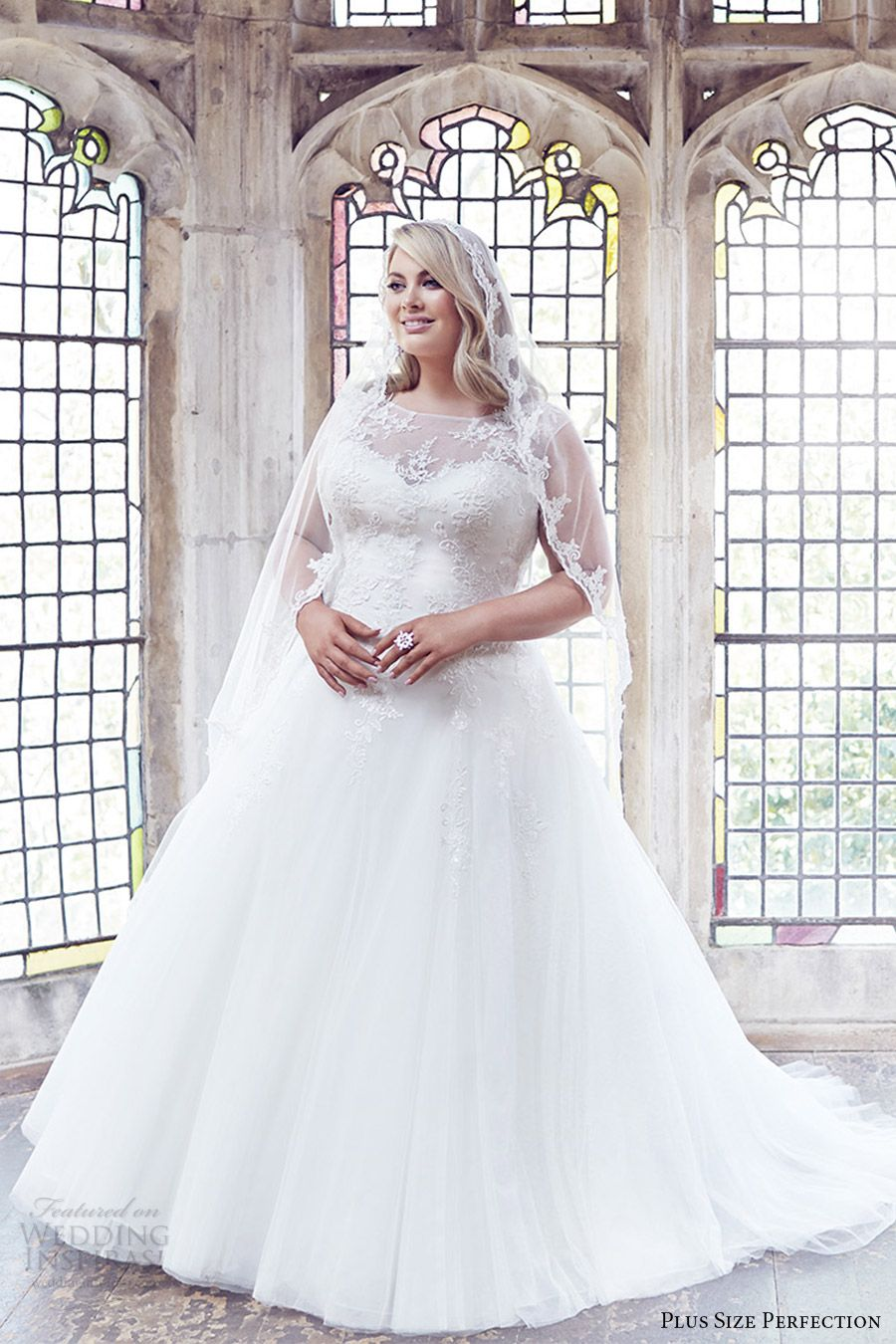 plus size perfection bridal 2016 cap sleeve sweetheart illusion jewel neck  a line ball gown wedding dress (anastasia) zv romantic elegant 6cc74ac1fe6a