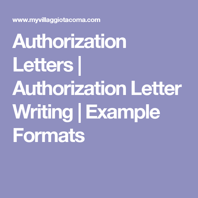 Authorization Letters  Authorization Letter Writing  Example