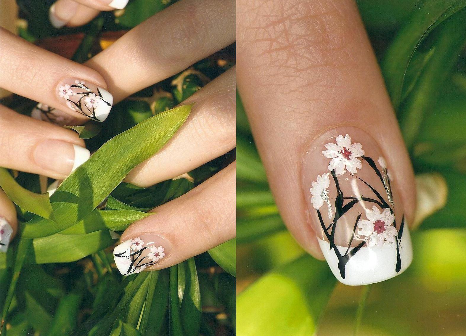 Magnífico Uñas Negro Y Rosa Lindo Ornamento - Ideas Para Pintar Uñas ...
