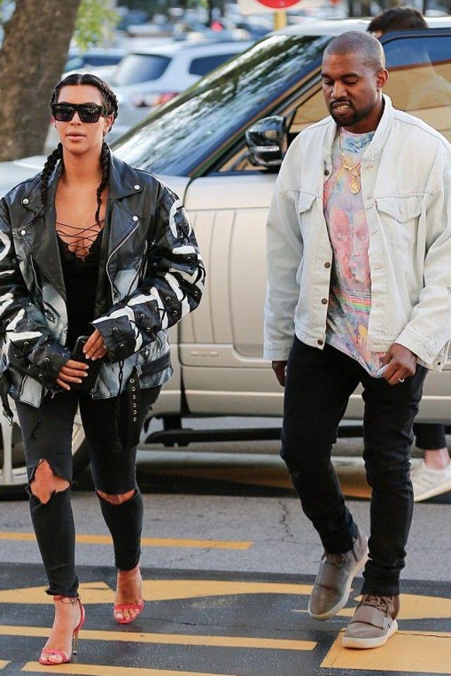 94d8d142 Kanye West wearing Vintage Pink Floyd Tie Dye Vintage T-Shirt, Yeezy 750  Boost, Levi's Vintage Trucker Jacket