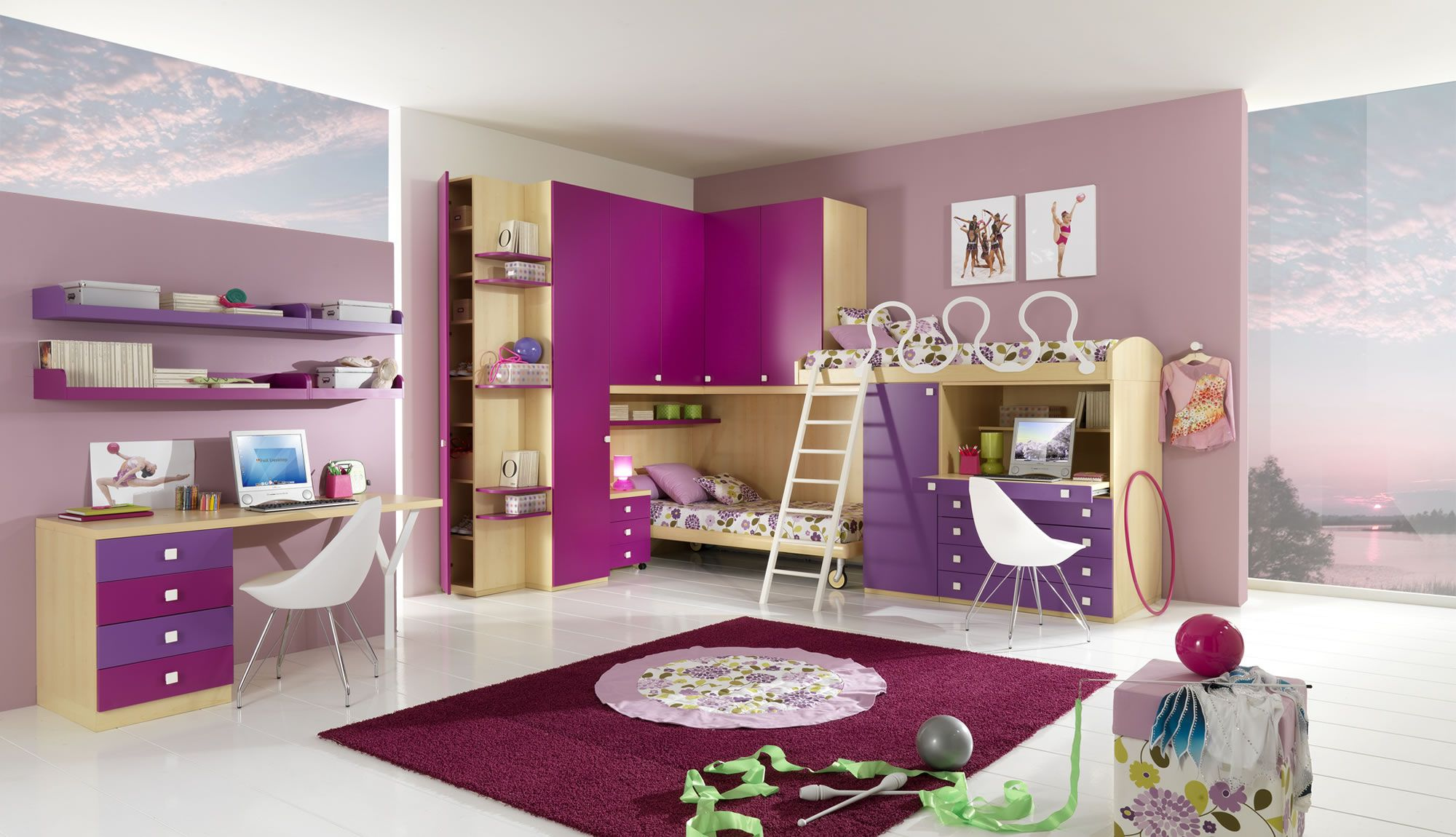 Giessegi neat girls room for 2 Design della camera da
