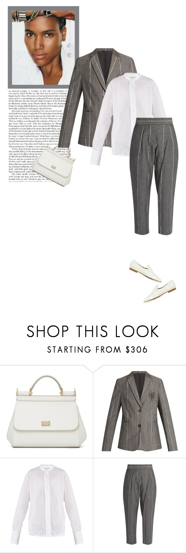 """Spring Office Wear"" by marion-fashionista-diva-miller ❤ liked on Polyvore featuring Dolce&Gabbana, Brunello Cucinelli, Lemaire and The Row"
