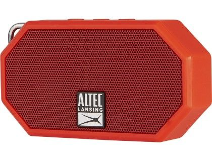 Altec Lansing Mini H2o Bluetooth Speaker Red Left Zoom