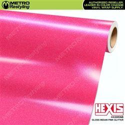 Hexis Gloss Indian Pink Glitter Vinyl Wrap | HX20RINB