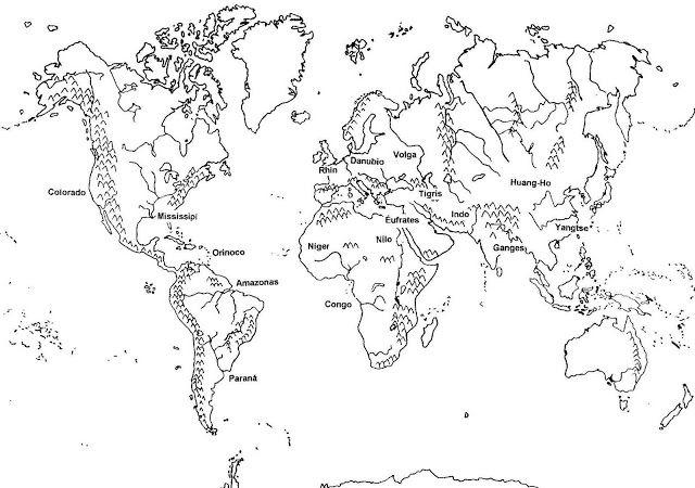Pin De Geografia Universal Tb En Relieve Mundo Para Colorear Mapas Del Mundo Paginas Para Colorear