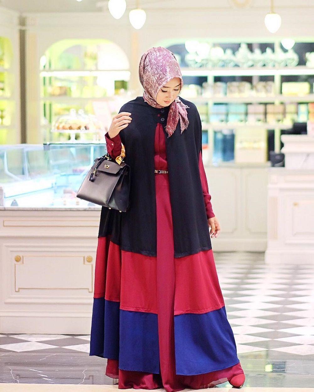 Model Gamis Dian Pelangi Terbaru Gambar Islami
