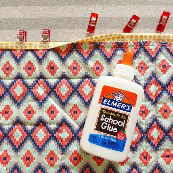 Using Glue To Help With Binding A Quilt