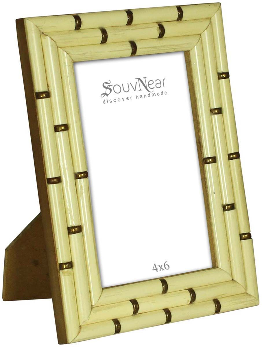 Pale Off-White 4x6 Inches Picture Frame in Bulk - Wholesale Handmade ...