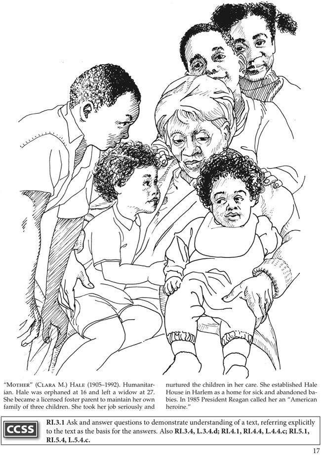 National Women S History Month Coloring Pages Clara Hale Dover Publications Family Coloring Pages Coloring Pages Mother And Child Drawing