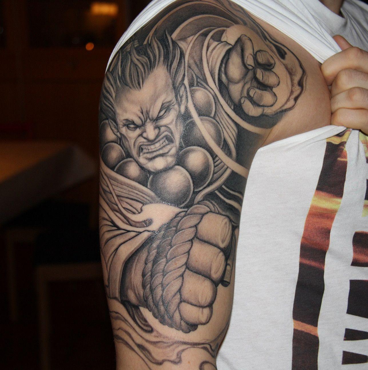 street fighter akuma tattoo imgur tattoos pinterest zumbis e tatuagens. Black Bedroom Furniture Sets. Home Design Ideas