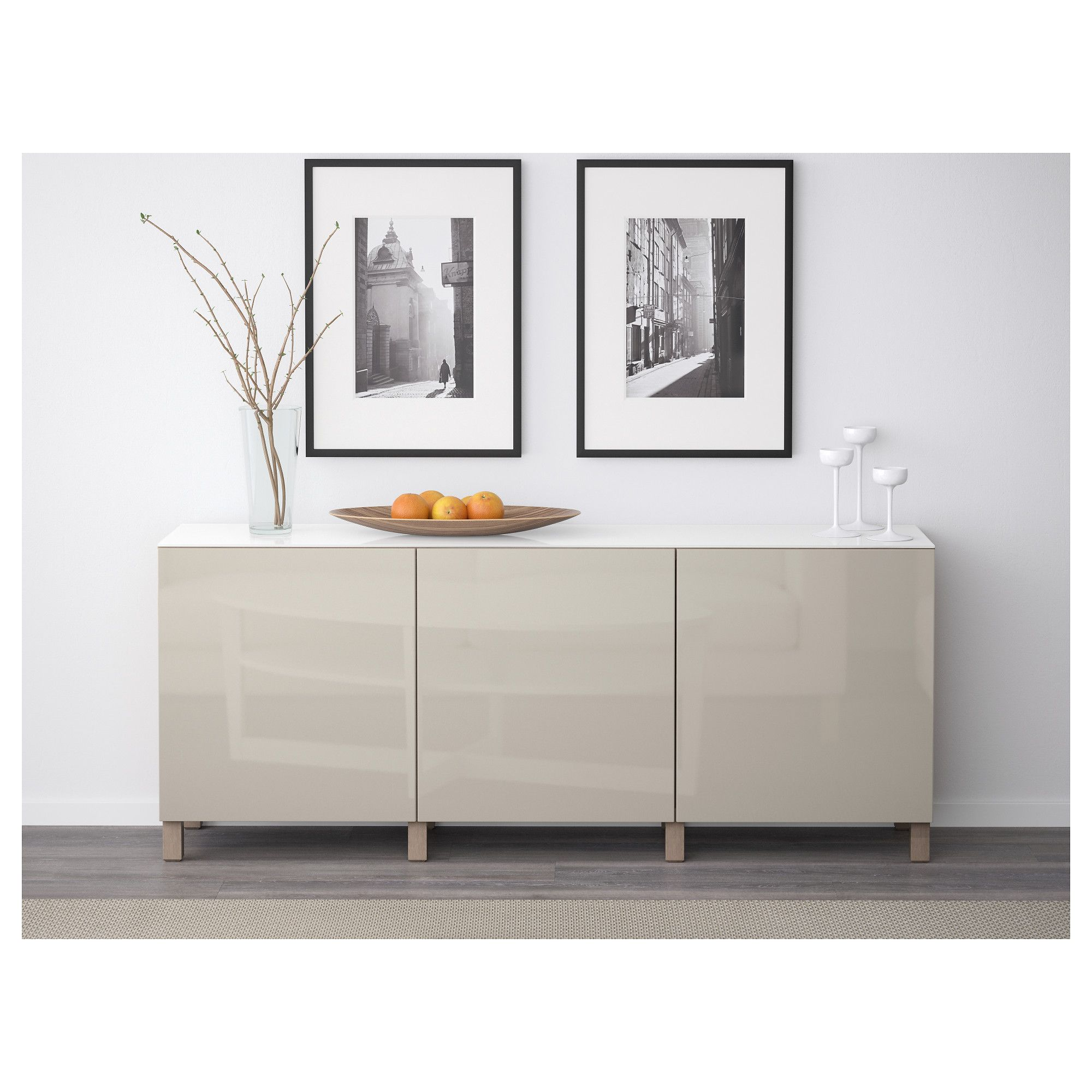 Storage combination with doors best walnut effect light - Walnut effect living room furniture ...