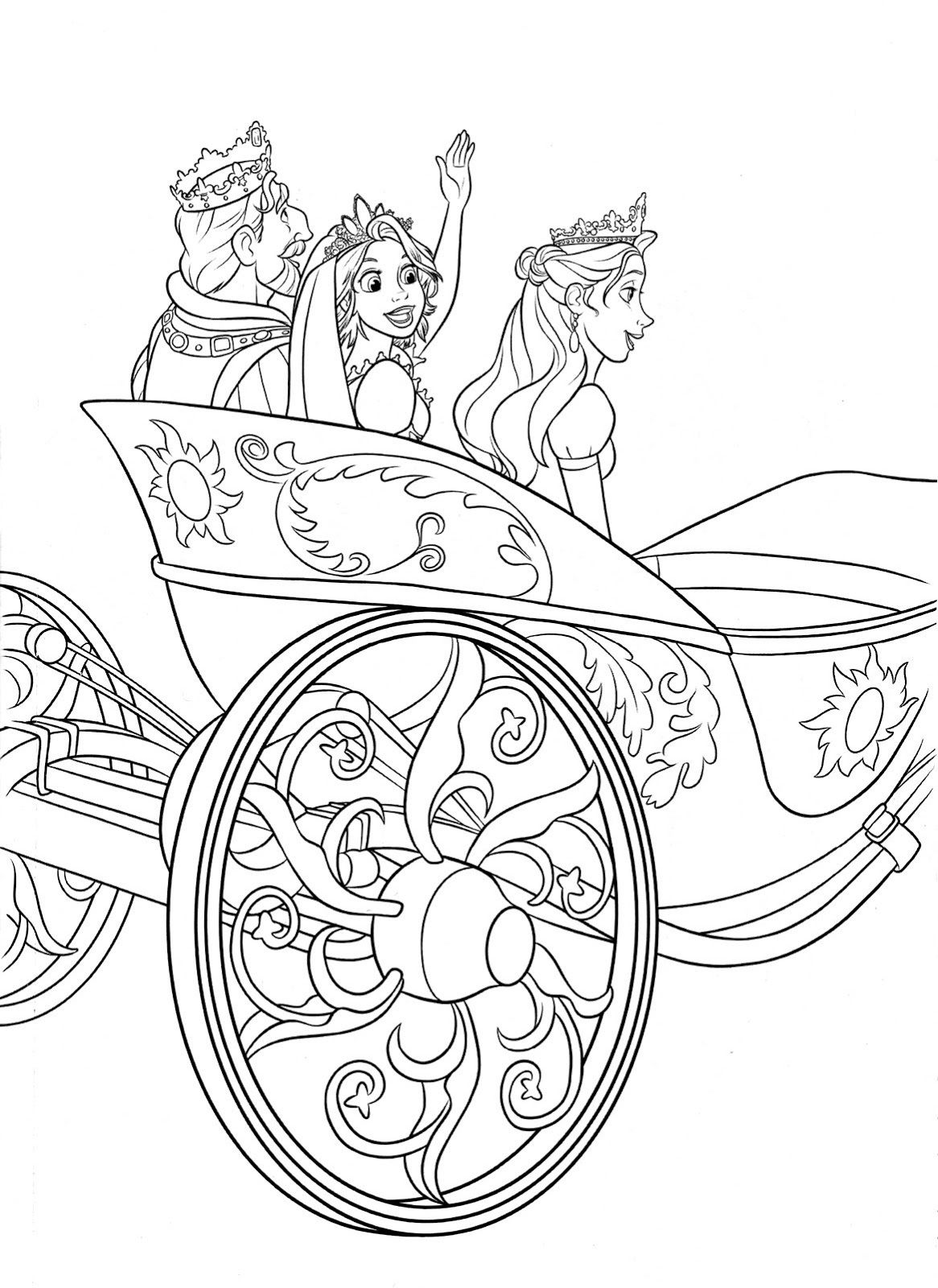 tangled coloring pages printable disney activity shelter - Tangled Coloring Book