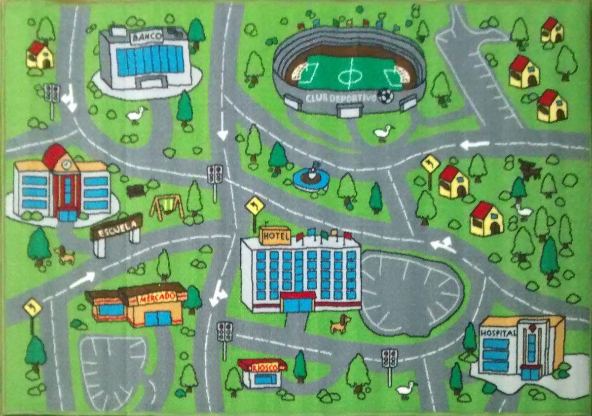 Resultado de imagen para alfombras infantiles pista de autos