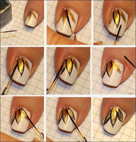 Easy & Simple Spring Nail Art Tutorials 2014 For Beginners & Learners   Fabulous Nail Art Designs