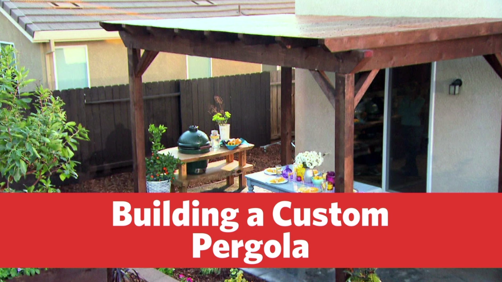 Building a Custom Pergola Patio Roof, Backyard Patio, Backyard Covered  Patios, Front Porch - Building A Custom Pergola Outdoor Projects Pinterest Pergola
