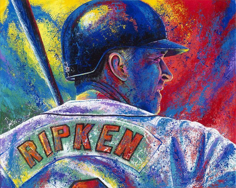 original artwork by bill lopa cal ripken jr ax billy sports bar