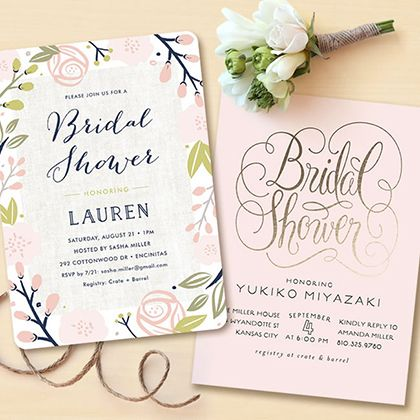 Gold Foil Bridal Shower Celebrations. Shop foil-pressed items at Minted.com today and take 20% off your order during the Semi Annual Free Foil Event. Code: FOIL16.