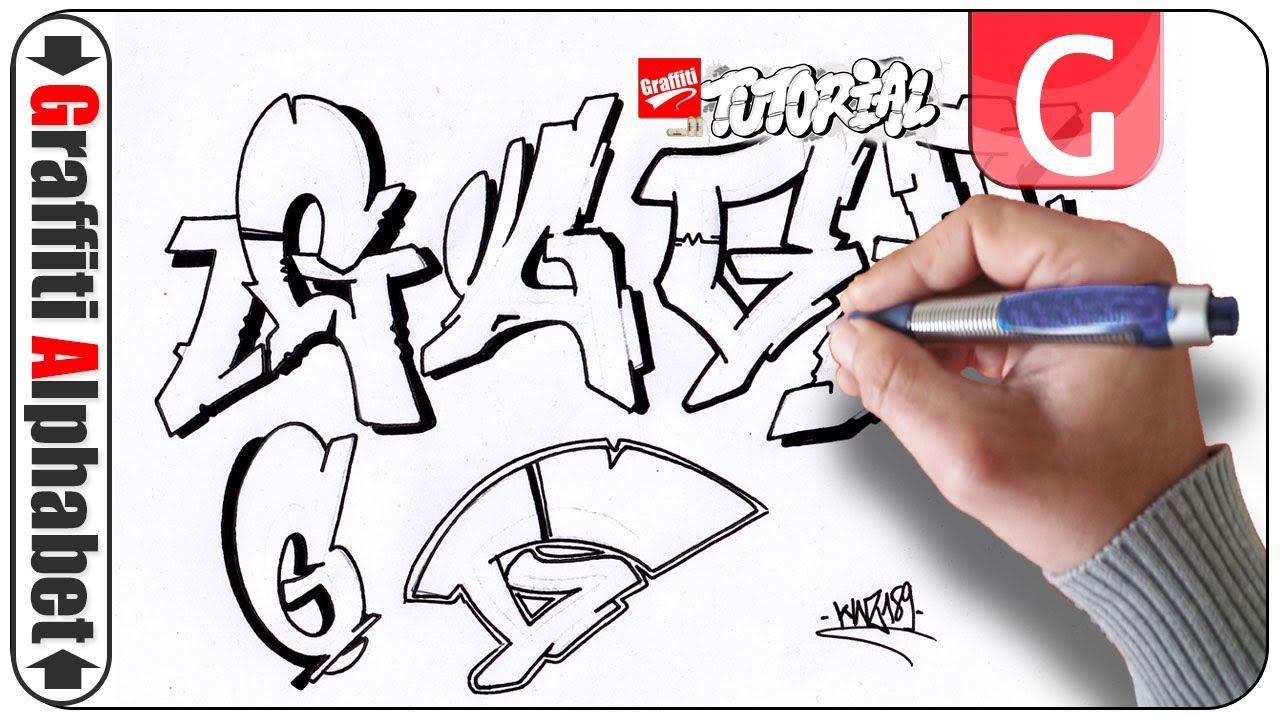 Graffiti alphabet letra g buchstabe g letter g