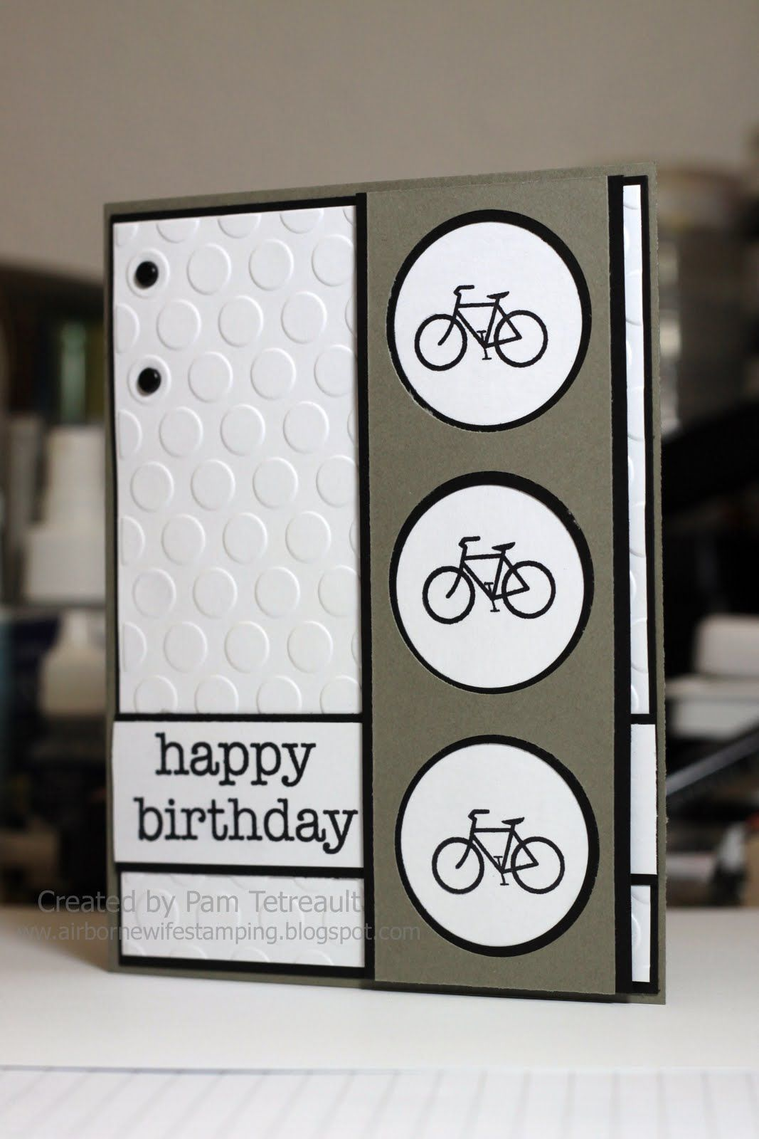 Airbornewifes Stamping Spot Hero Arts Happy Birthday Bicycle Card
