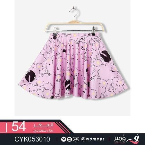 ملابس صبايا صيفية لاطلالة منفردة ازياء نسائية نسائيه ناعمه تنورة تنانير ملابس نسائية عروض عصرية مودرن موديلات Mini Skirts Galaxy Pattern Skirts