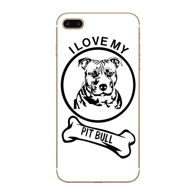 I Love My Pitbull White Transparent Hard Pc Case Cover For Samsung