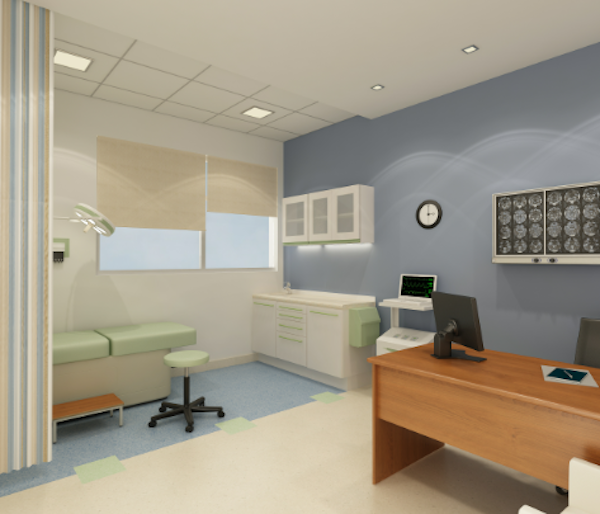 exam room colours - floor and walls and exam bed | Cancer ...