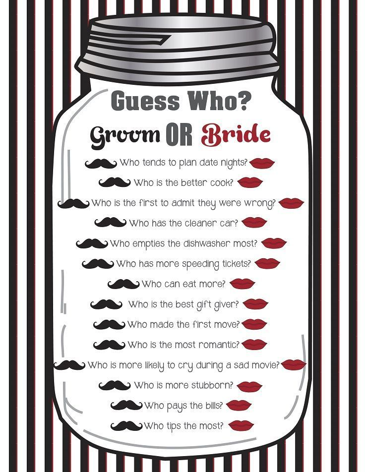 Guess Who Bridal Shower Game, Printable Guess Who Said It